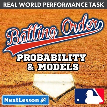 BUNDLE - Performance Task – Probability & Models – Batting Order