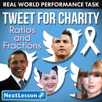 BUNDLE - Performance Task – Ratios & Fractions – Tweet for