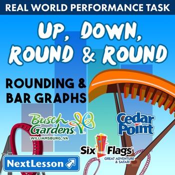 BUNDLE- Performance Task – Rounding & Bar Graphs – Up, Dow