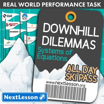 BUNDLE - Performance Task – Systems of Equations – Downhil