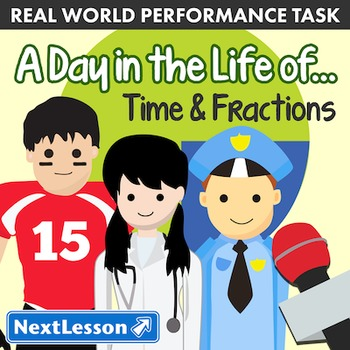 BUNDLE- Performance Task – Time & Fractions – A Day in the