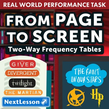 BUNDLE - Performance Task – Two-Way Frequency Tables – Fro