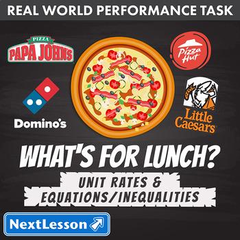 BUNDLE – Performance Task – Unit Rates & Equations/Inequalities