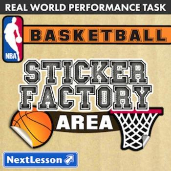 BUNDLE – Performance Tasks – Area – Sticker Factory Basketball