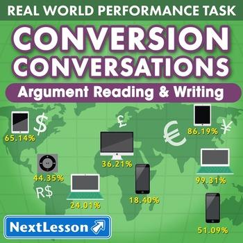 BUNDLE - Performance Tasks – Argument Writing – Conversion