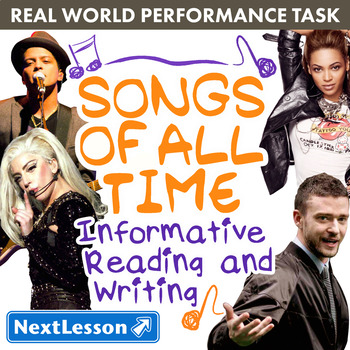 BUNDLE - Performance Tasks - Informational Writing – Songs
