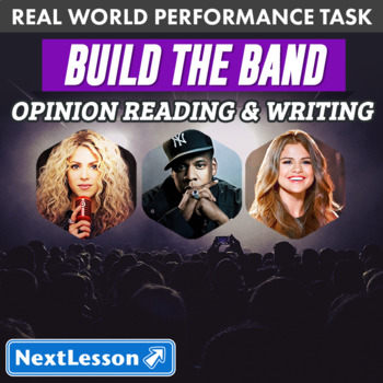 G3 Opinion Reading & Writing - 'Build the Band' Performance Task