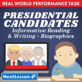 BUNDLE - Performance Tasks - Reading & Writing - Election