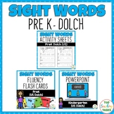 BUNDLE PreK (Dolch) Activity Sheets, PowerPoint and Flash