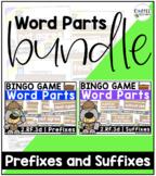 BUNDLE! Prefixes and Suffixes BINGO Games {2.RF.3d}