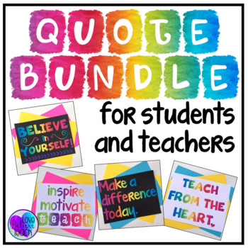 BUNDLE Quote Posters for Students and Teachers