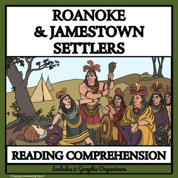 BUNDLE: READING COMPREHENSION - Roanoke and Jamestown Settlers