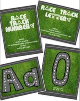 BUNDLE - Race Trace Letters & Numbers