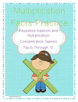 BUNDLE-Repeated Addition and Multiplication Practice Cards