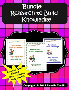 BUNDLE!!! Research to Build Knowledge Packets (All THREE i