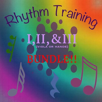 BUNDLE: Rhythm Exercises I, II, & III for viola or clapping