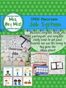 BUNDLE: SPED classroom Job System