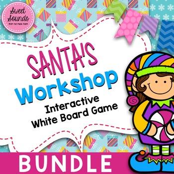 BUNDLE Santa's Workshop {Interactive Rhythm Games}