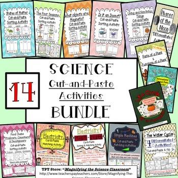 BUNDLE Science Cut-and-Paste Activities!