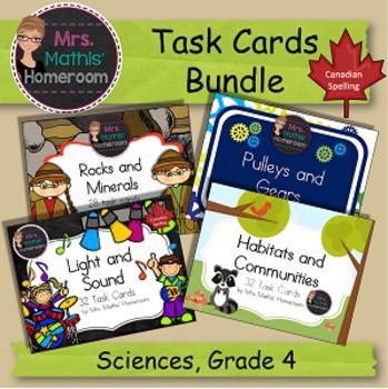 BUNDLE Science Task Cards, Grade 4