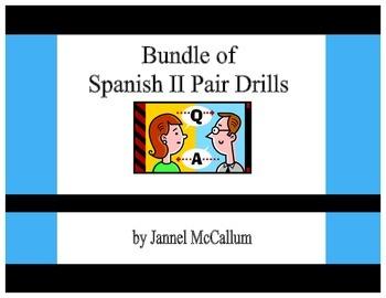 BUNDLE:  Spanish II Pair Drills