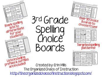 BUNDLE: 3rd Spelling Menus, Parent Letter & Pretest Slips