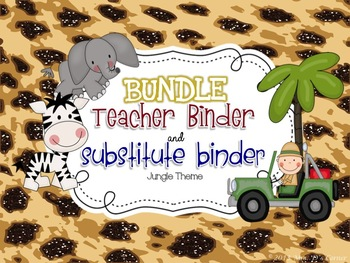 BUNDLE Editable Substitute Binder and Teacher Binder ( Jun