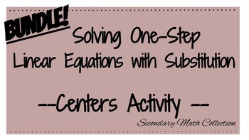 BUNDLE! Substitution Differentiated Activity - Solving One