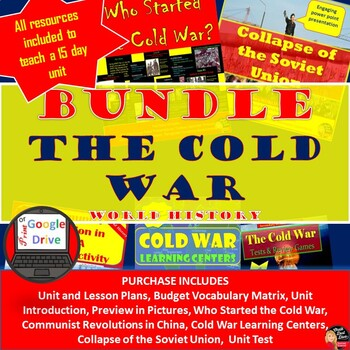 Cold War - BUNDLE (World History) Common-Core Aligned!