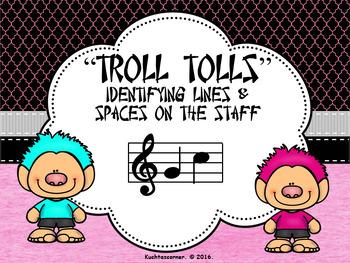 BUNDLE - Troll Tolls (Set of 3) Numbering Lines/Spaces on