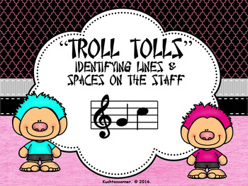 BUNDLE - Troll Tolls (Set of 3) Numbering Lines/Spaces on