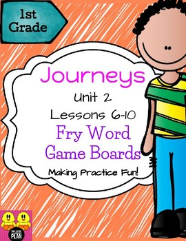 BUNDLE: Units 1-6 Journeys Fry Word Game