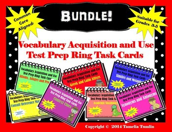 BUNDLE!! Vocabulary Acquisition and Use Task Cards ALL SEV