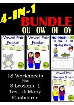 BUNDLE - Vowel Pairs - OU, OW, OI, & OY