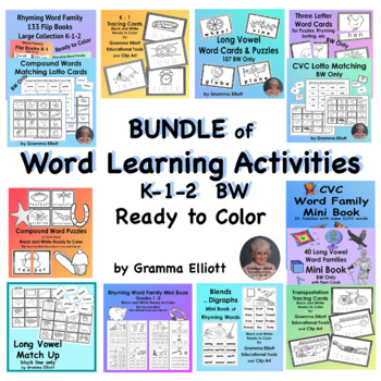 BUNDLE – Word Learning Activities Pack – K 1 2 3