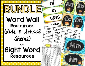 BUNDLE:  Word Wall & Sight Word Resource Packets (Kids & S