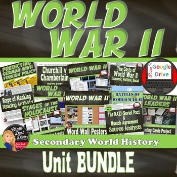 World War II BUNDLE (Secondary World History) SAVE $$$