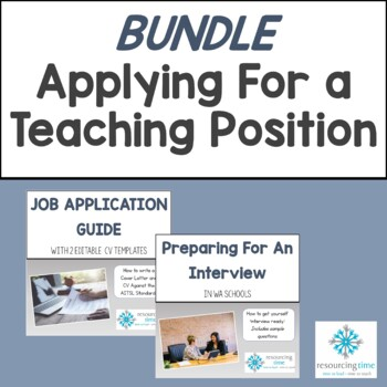 BUNDLE: Writing A Teaching Application PLUS Interview Prep