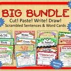 """BUNDLE of """"Cut, Paste, Write, Draw! Scrambled Sentences"""" p"""