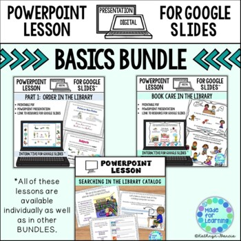 BUNDLE of Powerpoint Lessons for the School Library Media Center
