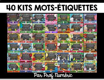 40 Kits de mots-étiquettes et + (960 affiches) - SCRIPT et CURSIF