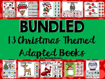 BUNDLED 13 Christmas Themed Adapted Books {Autism, Early C