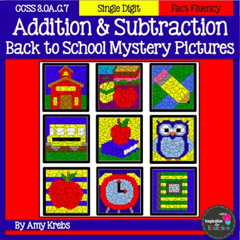 BUNDLED - Back to School Addition and Subtraction Mystery