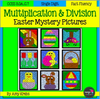 BUNDLED - Easter Multiplication and Division Mystery Pictures
