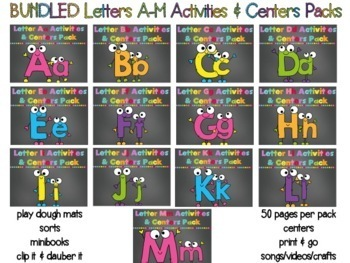 BUNDLED lETTERS N-Z CENTERS-ACTIVITIES-PRINTABLES & MUCH M