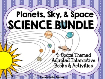 BUNDLED Science & Space 4 Adapted Interactive Books {Autis