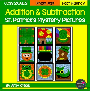 BUNDLED - St. Patrick's Day Addition and Subtraction Myste