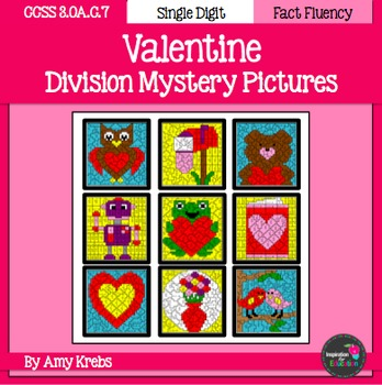 BUNDLED - Valentine Multiplication and Division Mystery Pictures