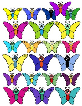 BUTTERFLY CLIPART * COLOR AND BLACK AND WHITE