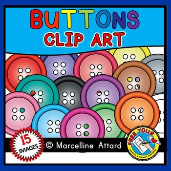 COLORFUL BUTTONS CLIPART: RAINBOW BUTTONS CLIPART